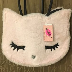 Betsey Johnson Accessories - Girls fuzzy kitten Betsey Johnson Tote 👜 😻